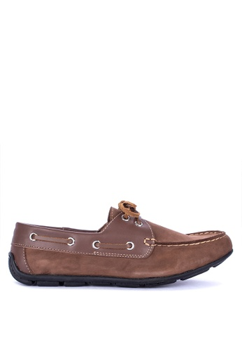 Itti brown Lace up Boat Shoes 61F2ASH9C311CAGS_1