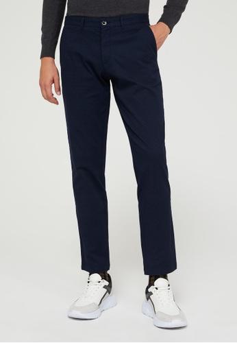 SISLEY 藍色 素色休閒長褲 2D600AA1E74F80GS_1