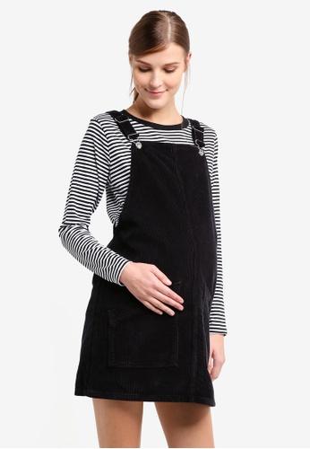 TOPSHOP black Maternity Cord Pocket Pini Dress TO412AA0T0WAMY_1