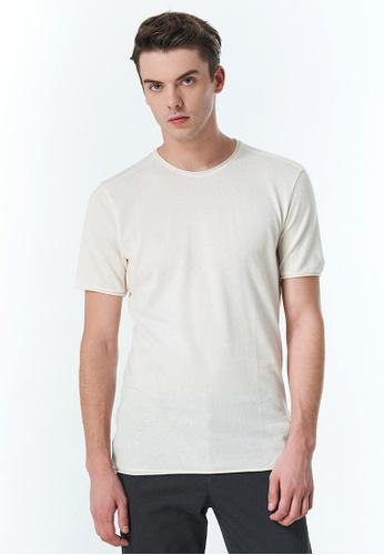 Sisley white Regular Fit T-shirt 7ED1CAA862F9EEGS_1
