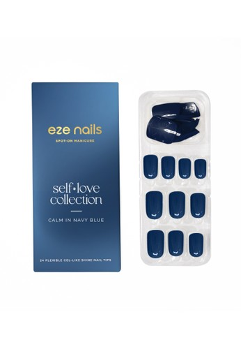 Eze Nails blue Eze Nails - Calm In Navy Blue - Spot-on Manicure 19BBEBE3F46C30GS_1