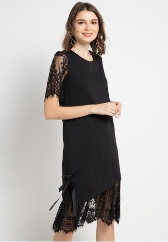 ELLE black Combination Dresses 46620AAF3922E8GS_1