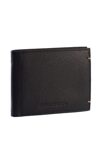 ENZODESIGN black and brown Ultra Soft Cow Leather Wallet(With Central Divider) EN115AC85ZTAPH_1