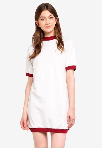 Something Borrowed white Contrast Rib Sweater Dress C70F3AAAB93773GS_1