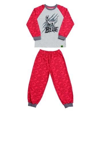 Jurassic World grey and red Jurassic World Pajamas Set F4F72KA11444AFGS_1