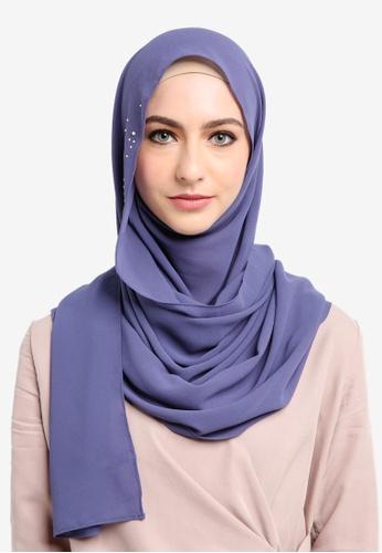 Najjah blue Myra Instant Shawl E78FBAAA75D8D9GS_1