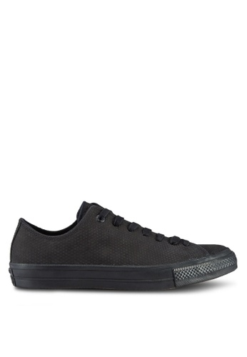 Converse black Chuck Taylor All Star Ii Leather Gumsole Sneakers Ox CO302SH43UPCMY_1