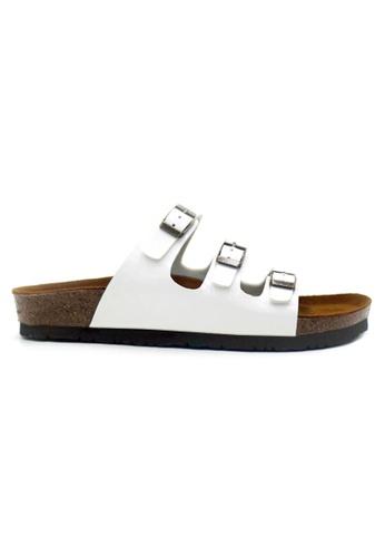SoleSimple 白色 Ely - 光面白色 百搭/搭帶 軟木涼鞋 5204DSH6AF356EGS_1