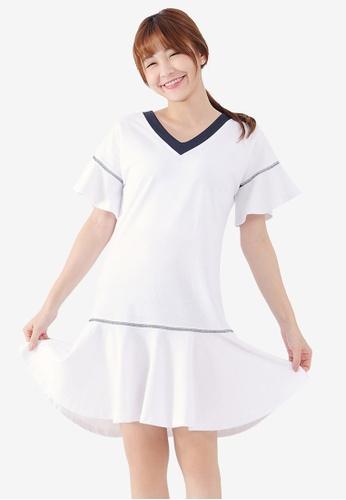 Tokichoi white Peplum Hem Dress ED222AACDE5F6DGS_1