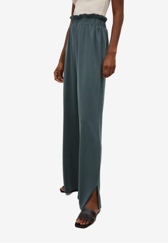 Mango green Drawstring Waist Modal Trousers 3A705AAEB433D1GS_1