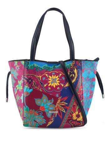 Desigual pink Boho 2 in 1 Shopper Bag F47CBAC23561AFGS_1