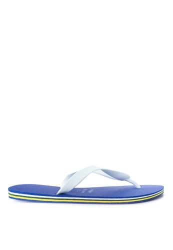 Dupe white and blue Brasil Flip Flops DU626SH63SYAPH_1