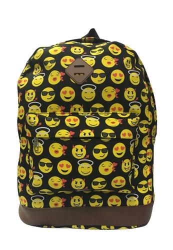 TCWK black TCWK Women Canvas Backpack - Black Smile 1EF93ACB68D628GS_1