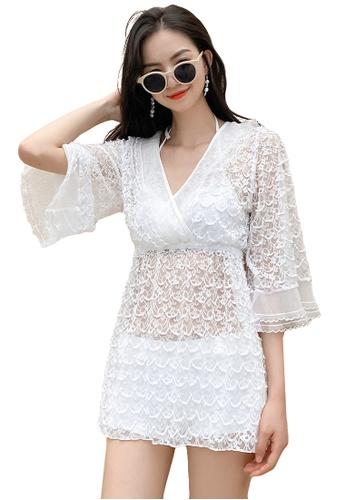 A-IN GIRLS white (3PCS) Sexy Lace Bikini Swimsuit E5A4AUSD867EB8GS_1