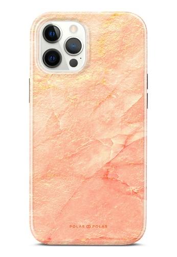 Polar Polar 粉紅色 粉色雲石紋雙層光面手機殼 iPhone 12 Pro Max 32D98AC7240BB0GS_1