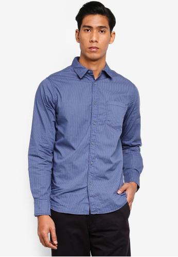 OVS 藍色 經典條紋襯衫 E5AA8AAEA48580GS_1