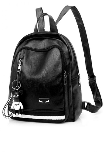 Lucky JX black Korean Icez Leather Long Strapped Mini Backpack  9BA44ACA73DAF4GS 1 f4ccc5aecd59f