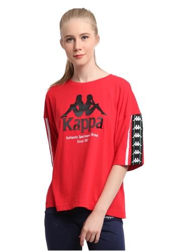 Kappa red Kappa T-Shirt Wanita Oversized KK2TS234 - Dk.Red 5A387AA0D37BE1GS_1