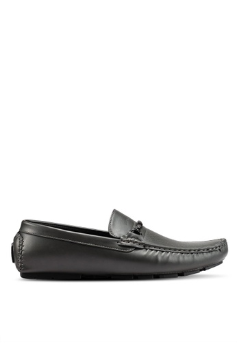 Rocklander black and grey Rocklander Perforated Loafers 77F03SHCE04582GS_1