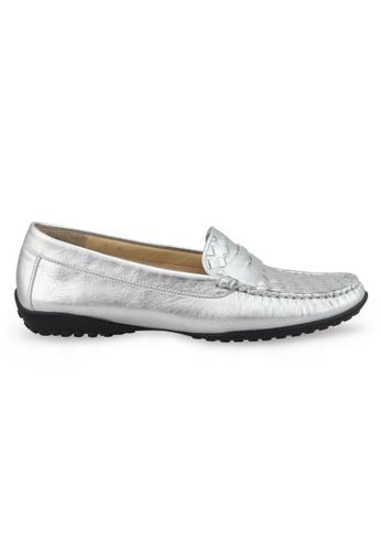 Shu Talk 銀色 羊軟皮樂福鞋 SH544SH09Y55TW_1
