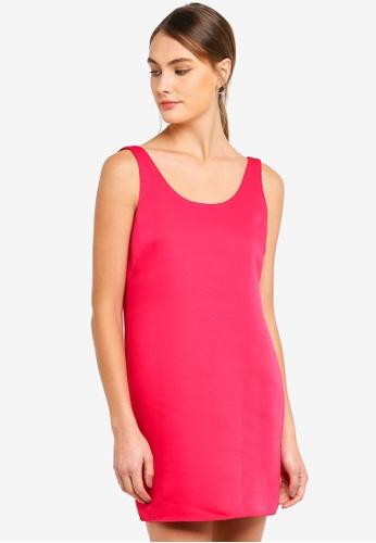 Armani Exchange pink Woven Low Back Sleeveless Shift Dress 45E2DAA21EC56FGS_1
