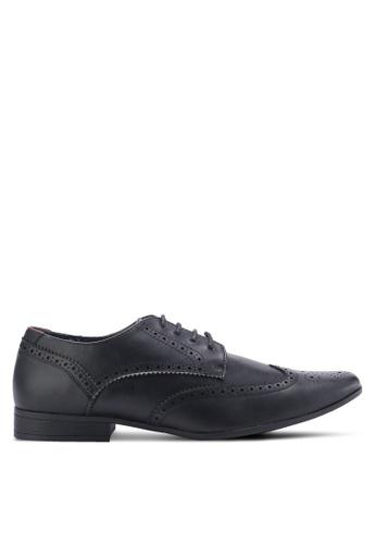 Burton Menswear London black Redford Shoes BU964SH98DPLMY_1