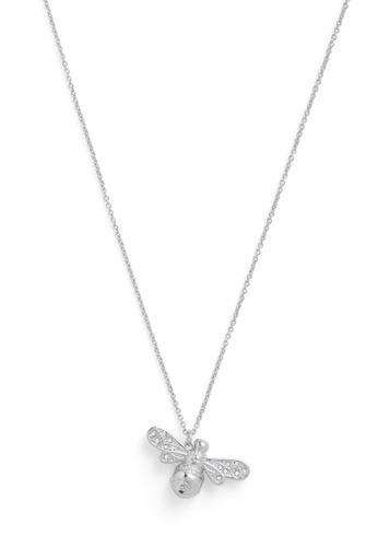 Olivia Burton silver Olivia Burton Sparkle Bee Silver Women's Necklace  (OBJAMN57) 2B16BAC642FC9AGS_1
