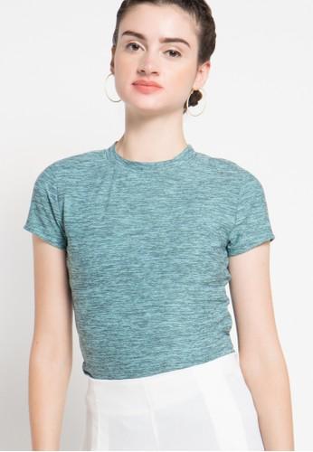 sophistix green Abra Knit Top In Dark Blue SO829AA36OXZID_1
