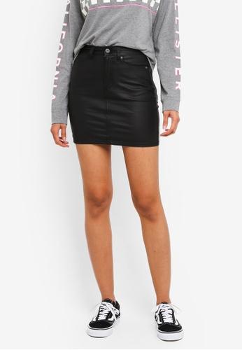 Factorie black Malibu Coated Skirt 291BAAA8F7BE90GS_1