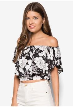 Floral Printed Off Shoulder Top