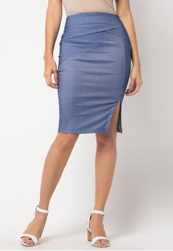 Raspberry blue Alvis Midi Skirt RA572AA70YQRID_1