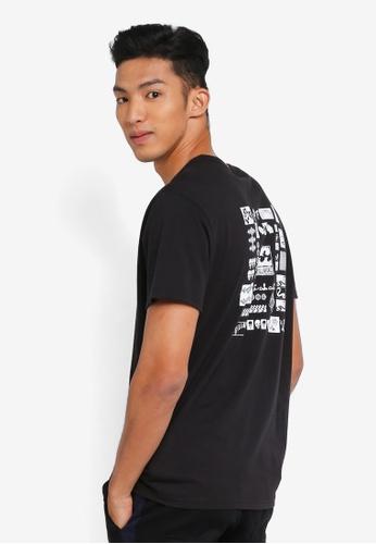 Billabong 黑色 素色印花T恤 A4C28AA2ACD72FGS_1