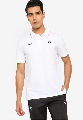 PUMA white BMW M Motorsport Men's Polo Shirt 49894AAED93B95GS_1