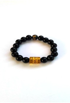 Feng Shui Onyx with Protection Mantra Bracelet