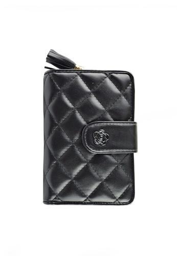 Twenty Eight Shoes black VANSA Sheep Leather Tri-fold Short Wallet VBW-Wt001 520A7AC2F573EEGS_1
