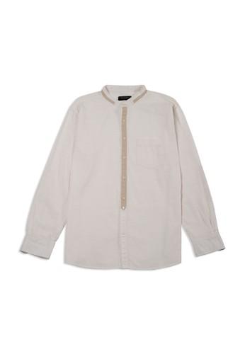 TIRAJEANS white Long Sleeve Shanghai Shirt 2BBF1AA178652EGS_1