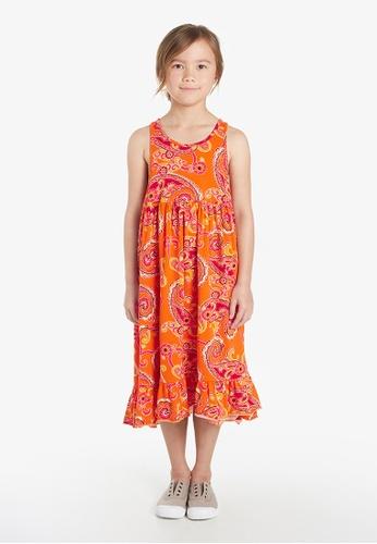 Gen Woo orange Tiered Midi Smock Dress By Gen Woo 89134KA4F863D7GS_1
