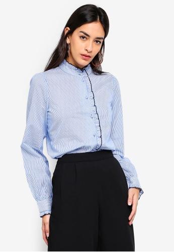 Vero Moda blue Claudia Shirt 0D448AA3350DE3GS_1