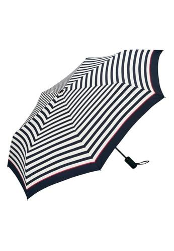 WPC white WPC Unisex Asc Folding Umbrella (Pink Line Border Mini) 675CFAC5F0E959GS_1
