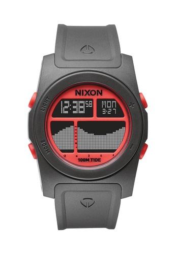 Nixon grey and red Nixon - Rhythm Grey/Red Digital Watch NI855AC46EBXSG_1