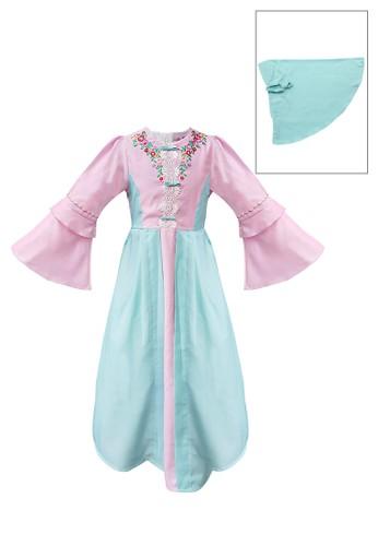 INFINE pink Muslim Dress Anak Esm 193 6/12 9653AKA4A01B36GS_1
