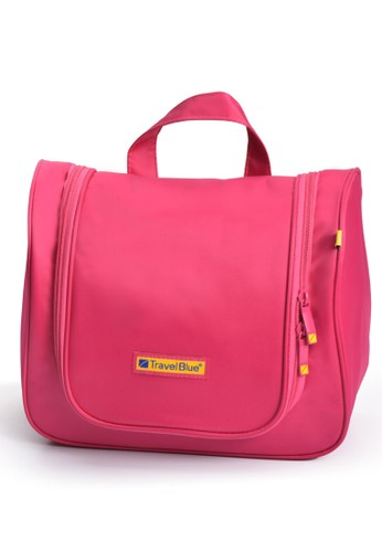Travel Blue pink Travel Kit Luxury Beauty Case / Travel Toiletry Bag - Pink 5F9A4ACD66F111GS_1