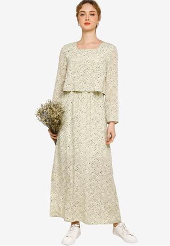 Lubna green Tier Dress 4810FAAA13C1CCGS_1