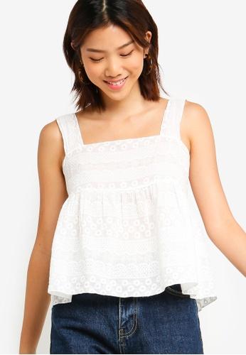 Something Borrowed 白色 刺繡娃娃上衣 D6E17AA01169E3GS_1