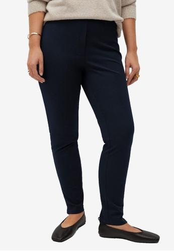 Violeta by MANGO blue Plus Size Cotton Leggings 66FF5AAE50A70AGS_1