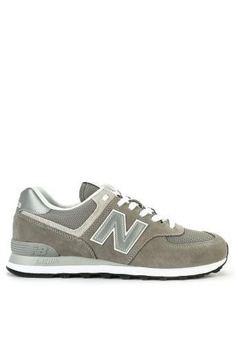 New Balance grey 574 Classic 55CB8SH567E6D8GS_1