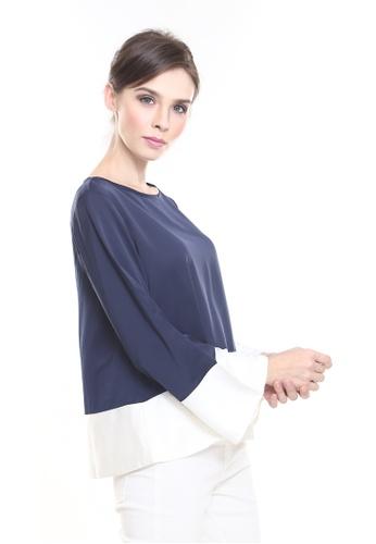 0684674447ea54 Buy Rina Nichie Basic Rina Crop Top in Dark Blue Online