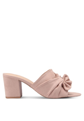 Dorothy Perkins pink Blush Wide Fit Solo Mules D0907SHA2D1E99GS_1