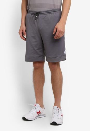 UniqTee 灰色 Jersey 短褲 UN097AA0RS52MY_1