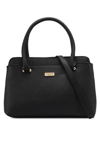 Unisa black Saffiano Convertible Shoulder Bag UN821AC0SRVCMY_1